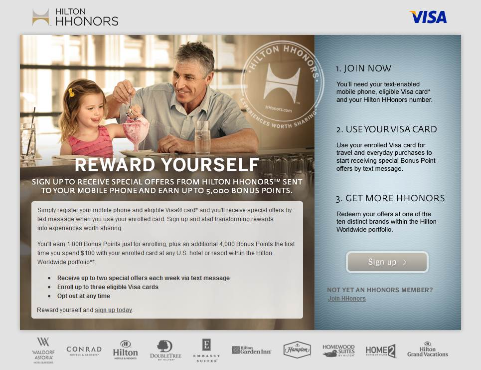 Earn Hilton HHonors points for texting? Heck yeah!